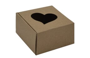 PAPER BOX HEART CRAFT 6,2x6,2x4cm PACK/25
